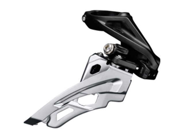 Shimano Deore Deore M612-H triple front derailleur, high clamp, side swing, front pull click to zoom image