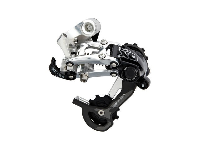 Sram X0 Rear Derailleur - Type 2.1 - 10 Speed - Short Cage - Silver 10spd Short click to zoom image
